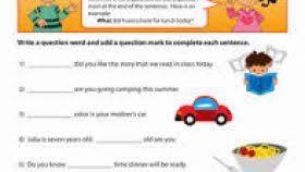 question words worksheet for grade 2 worksheets aquatechnics biz