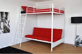 chambre avec clic clac lit mezzanine blanc 140x190 avec canapé clic clac 135x190 lust deco