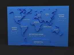 Stl Map 3d Printable Model World Map Cgtrader
