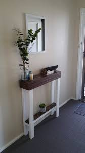 Slim Entry Table And Narrow Hallway With Slim Console Table Transitional