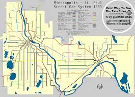 Metro Map Chicago by Beautiful Map Of Historic Twin Cities Streetcar Lines Net Density