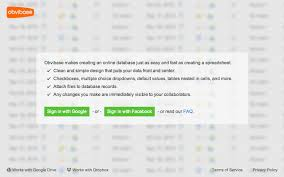 How To Use Spreadsheet As Database Obvibase A Truly Simple Database Chrome Web Store