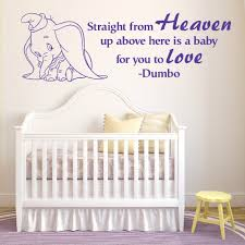 popular wall murals baby room buy cheap wall murals baby room lots lovely cute elephant with straight from heaven beautiful quotes wall mural kids bedroom babies room art