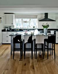 Black And White Laminate Flooring White Kitchens With The Wow Factor The Room Edit