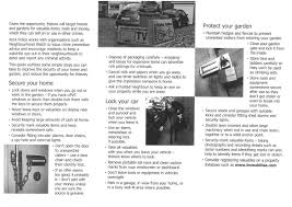 Secure Your Valuable Items With - home and garden security information leaflet from kent police