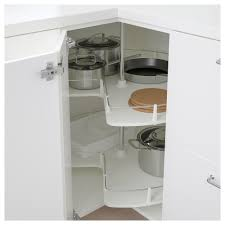 Metod Wall Cabinet With Shelves by Metod Corner Base Cabinet With Carousel White Veddinge White 88x88