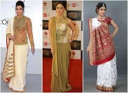 saree draping new styles 6 innovative saree draping styles makeupandbeauty com