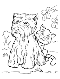 print u0026 download cat dog coloring pages