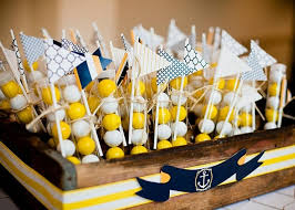 yellow baby shower decorations baby shower baby showers nautical baby shower nautical decorations