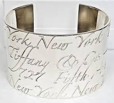 tiffany bracelet silver cuff images Tiffany co 925 sterling silver wide cuff bracelet rare 727 fifth jpg