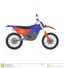 motocross bike vector motocross bike illustration on white background stock