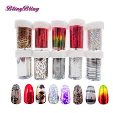 online get cheap design gold foil flowers stickers for nails