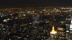 new york city skyline at night 1 by jbandy on deviantart