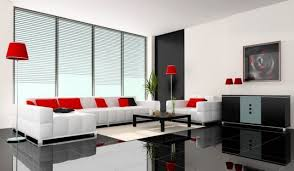 Red Living Room Sets by Living Room Decorating A Living Room With Red Sofa And White