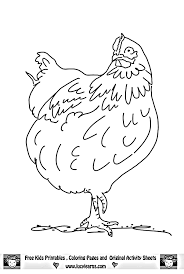 coloring page of a chicken chicken coloring page farm animals get coloring pages