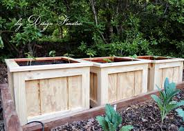 Backyard Planter Box Ideas Diy Design Fanatic Finished Planter Boxes And Garden Update