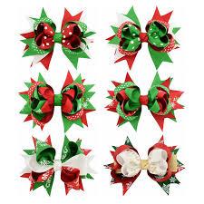 christmas ribbon bows online shop 1pcs new style solid christmas ribbon bows with hair