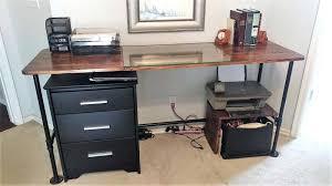 Diy Pipe Desk Diy Pipe Desk Easy Metal Pipe Desk Tutorial Diy Pipe Desk Lowes