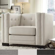Tufted Accent Chair Hamilton Linen Button Tufted Accent Chair By Inspire Q Bold Free