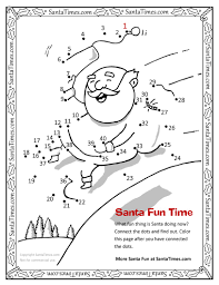 santa is doing what dot to dot