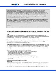 training policy template 2 free templates in pdf word excel