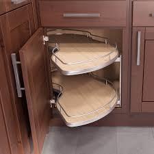 Blind Corner Mirror Concrete Countertops Corner Kitchen Cabinet Storage Lighting
