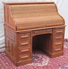 Oak Crest Desk Oak American Victorian Antique Desks U0026 Secretaries Ebay