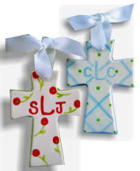 personalized crosses personalized ceramic cross painted baby gift