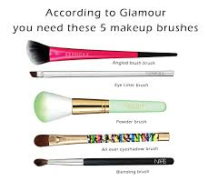 how to use them the 5 makeup brushes you need according to glamour