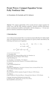 Good Words To Use In Resume Freak Waves Compact Equation Versus Fully Nonlinear One Springer