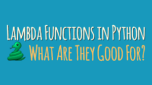 Python Map Function Lambda Functions In Python What Are They Good For U2013 Dbader Org