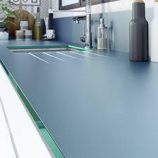 plan de travail de cuisine sur mesure plan de travail sur mesure verre laqué gris de plomb ep 15 mm