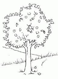 Coloriage petit pommier arbre en ligne et imprimer gratuit