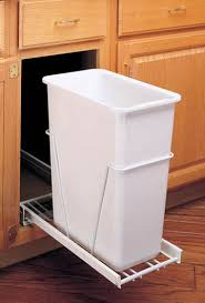 Pull Out Trash Can 15 Inch Cabinet Kitchen Slide Out Trash Can Replacements Eclectic Ware