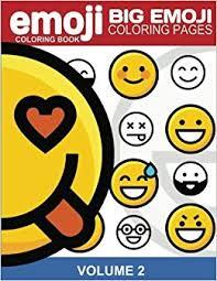 amazon emoji coloring book big emoji coloring pages vol 2