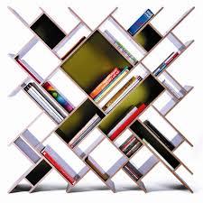 decoration unique futuristic bookcase style with tilt concept and
