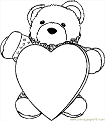 valentine pictures color print kids coloring
