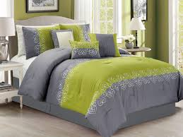 Olive Bedding Sets Green Comforter Set 7 Helena Embroidery Within