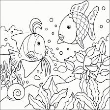 tropical fish coloring page rainbow fish coloring page printable