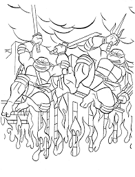 art galleries teenage mutant ninja turtles coloring pages