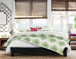 bedroom pottery barn organic bedding green palm design square