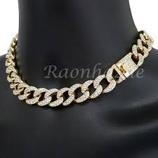 link choker necklace images Iced out quavo 14k gold pt 16mm 16 quot 30 quot miami cuban link choker jpg