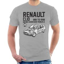 haynes owners workshop manual renault clio black men u0026 039 s t shirt