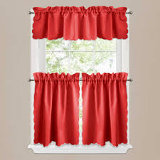 Red Kitchen Decor Ideas by Decor Beautiful Kitchen Curtains Walmart For Kitchen Decoration