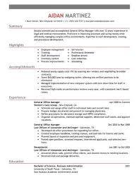 skills resume exles best administrative general manager resume exle livecareer