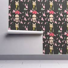 frida kahlo wallpaper danielchloe spoonflower