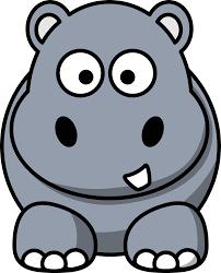clipart cartoon hippo