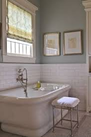 subway tile ideas bathroom smoke grey glass subway tiles add a spa like feel to this tub