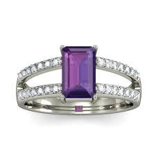 amethyst diamond engagement ring luxurious 2 carat amethyst and diamond engagement ring in white
