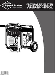 briggs u0026 stratton portable generator pro4000 user guide